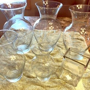 Other - 6 Clear Glass Vases bundle